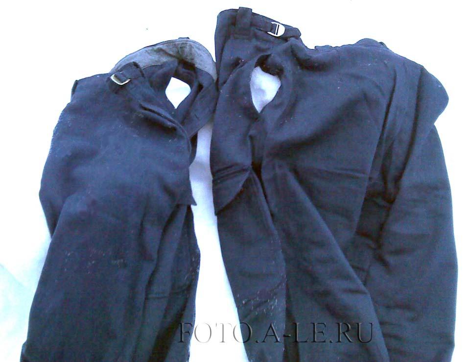 """2 пары брюк от костюма, у всех левый внутренний карман """"сквозной"""" , отсутствует."""