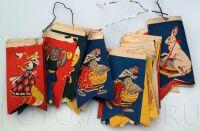 Гирлянда из бумажных флажков на елку 60-х годов, СССР.