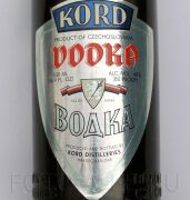 Vodka KORD, product of Chechoslovakia Produced and bottled be KORD DISTILLTRIES