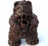 Керамика времен СССР. Медведь фигурка