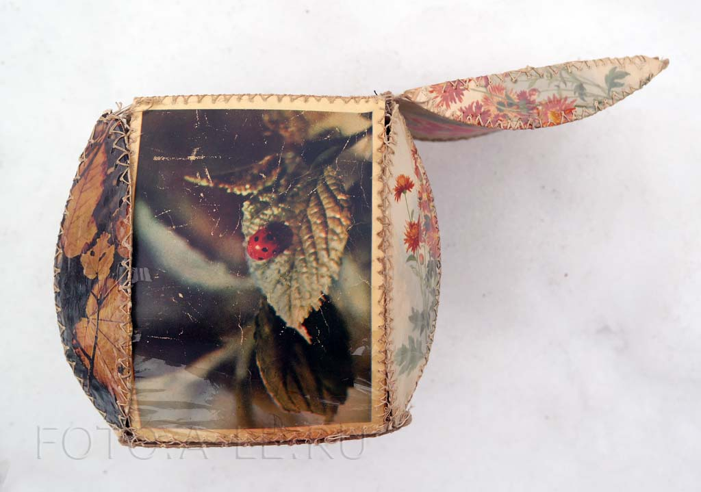 Шкатулка из открыток к 8 марта, 1970 год. Подарок маме своими руками. hand-made handmade