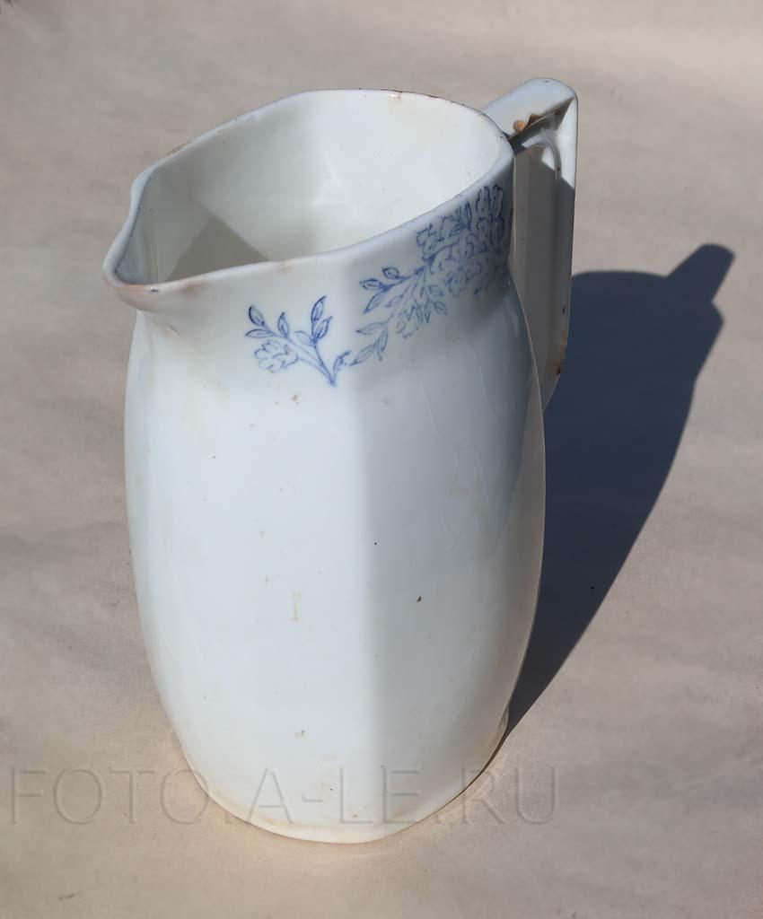Молочник, фарфор-фаянс, Рига. Рижский фарфоро-фаянсовый завод (бывший завод Кузнецова в Риге)