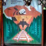 Щиты для фотографирования СССР Тамарески СССР Даешь магистраль века! Серп и молот